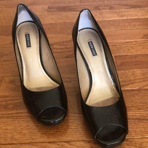 Alex Marie Peep Toe Black Heels